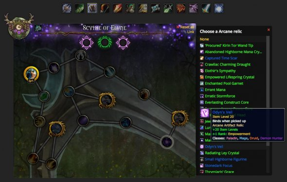 Artifact Calculator Supports 3 Relics, Layout Updates to Legion