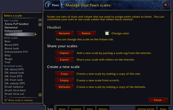 Pawn : Bags, Bank, Inventory : World of Warcraft AddOns