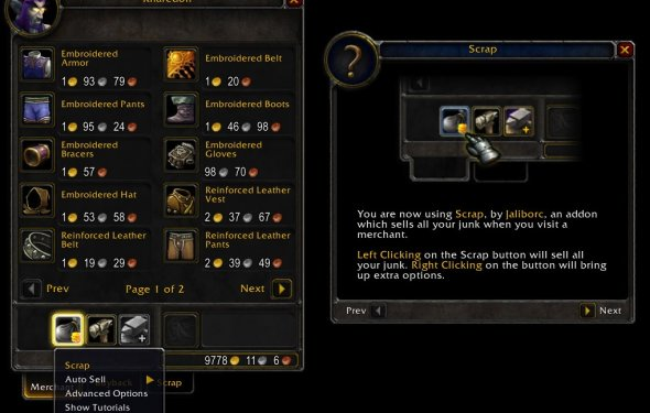 Scrap (Junk Seller) - Bags & Inventory - World of Warcraft Addons